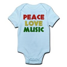 Peace Love Music Onesie