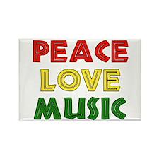 Peace Love Music Rectangle Magnet
