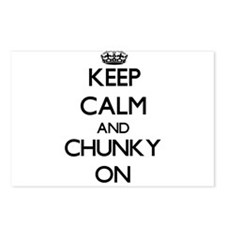 Keep Calm and Chunky ON Postcards (Package of 8)