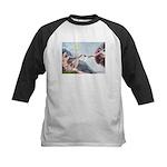 Creation / Fawn Pug Kids Baseball Jersey