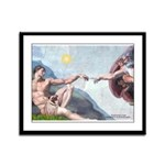Creation / Fawn Pug Framed Panel Print