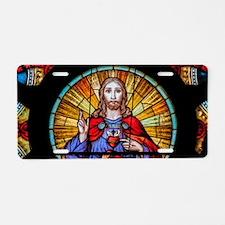 Sacred Heart de Santa Ifigê Aluminum License Plate