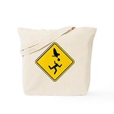 Warning: Owl Attack - May Lose Head! Tote Bag