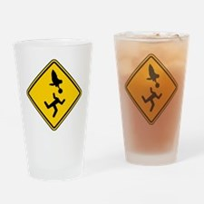 Warning: Owl Attack - May Lose Head Drinking Glass