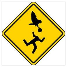 Warning: Owl Attack - May Lose Head! Poster