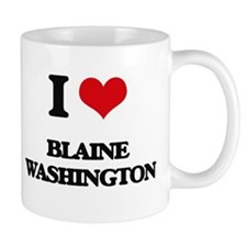 I love Blaine Washington Mugs