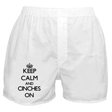 Keep Calm and Cinches ON Boxer Shorts
