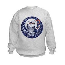 Blue Owl with Moon Sweatshirt