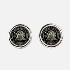 West Point Bicentennial Dollar Round Cufflinks