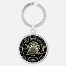 West Point Bicentennial Dollar Round Keychain