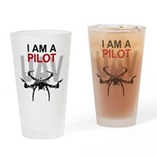 UAV Quadpilot Quadcopter Pilot Drinking Glass