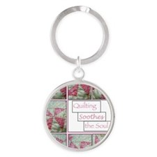 Cute Sewing pattern Round Keychain