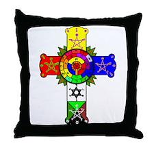 Rose Cross Lamen Throw Pillow