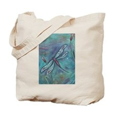 Turquoise Dragonfly Tote Bag