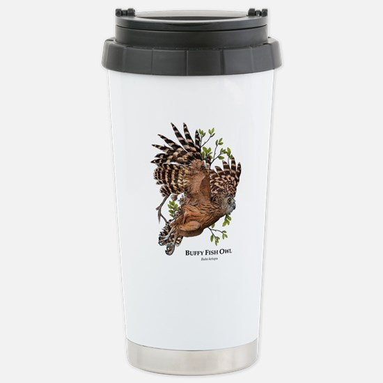 Buffy Fish Owl Stainless Steel Travel Mug