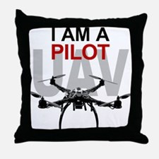 UAV Quadpilot Quadcopter Pilot Throw Pillow