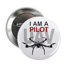 """UAV Quadpilot Quadcopter Pilot 2.25"""" Button (100 p"""