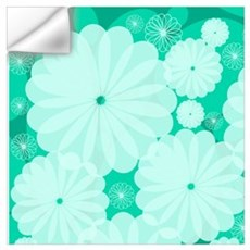 Dew Drop Flowers Wall Decal