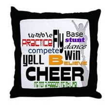Cheer Words 2 Throw Pillow