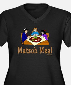Matzoh Meal Women's Plus Size V-Neck Dark T-Shirt