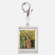 Little Chapel in the Woods Silver Portrait Charm