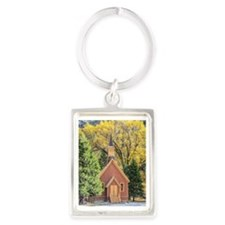 Little Chapel in the Woods Portrait Keychain
