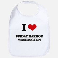 I love Friday Harbor Washington Bib