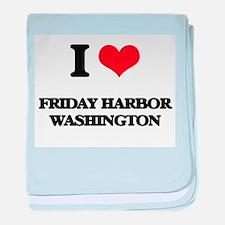 I love Friday Harbor Washington baby blanket