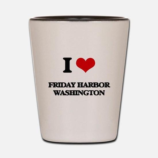 I love Friday Harbor Washington Shot Glass