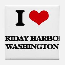 I love Friday Harbor Washington Tile Coaster