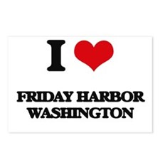 I love Friday Harbor Wash Postcards (Package of 8)