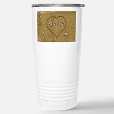Shania Beach Love Stainless Steel Travel Mug