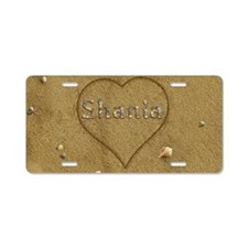Shania Beach Love Aluminum License Plate