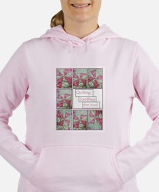 Cute Quilt pattern Women's Hooded Sweatshirt