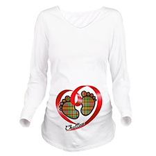 Chattan Tartan Baby Long Sleeve Maternity T-Shirt