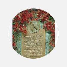 "Frederic Chopin memorial 3.5"" Button"