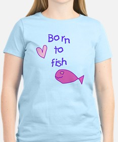 Girls - Born to Fish T-Shirt
