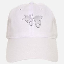 Silver Theater Masks of Comedy and Tragedy Baseball Baseball Cap
