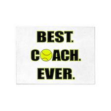 Softball Best Coach Ever 5'x7'Area Rug