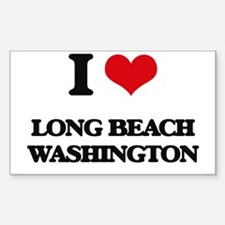 I love Long Beach Washington Decal