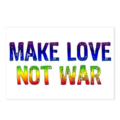 Make Love Not War Postcards (Package of 8)
