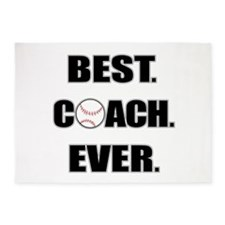 Baseball Best Coach Ever 5'x7'Area Rug