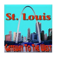 St. Louis Gateway To The West Tile Coaster