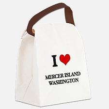 I love Mercer Island Washington Canvas Lunch Bag