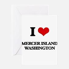 I love Mercer Island Washington Greeting Cards
