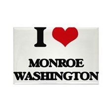 I love Monroe Washington Magnets