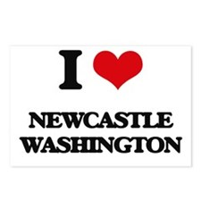 I love Newcastle Washingt Postcards (Package of 8)