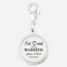 Eat Drink And Be Married Wedding Charms