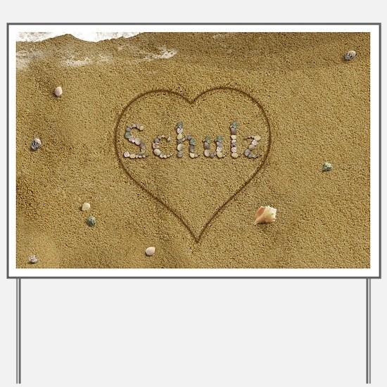 Schulz Beach Love Yard Sign