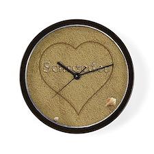 Schroeder Beach Love Wall Clock